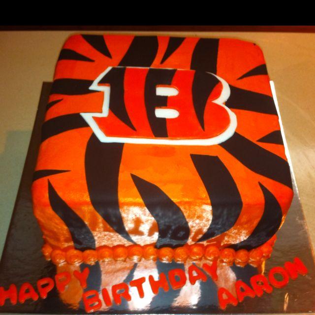 23 best Cincinnati Bengals Cakes images on Pinterest Birthday