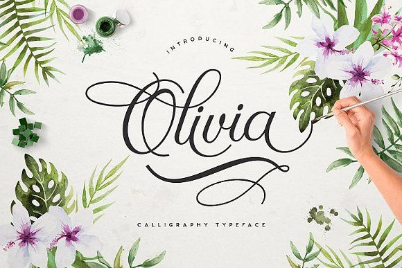 Olivia Script by Font Bundles on @creativemarket