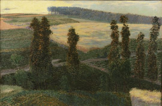 Antonín Hudeček (Czech, 1873-1942), Summer Landscape, 1900-05. Oil on canvas, 80 x 120 cm.