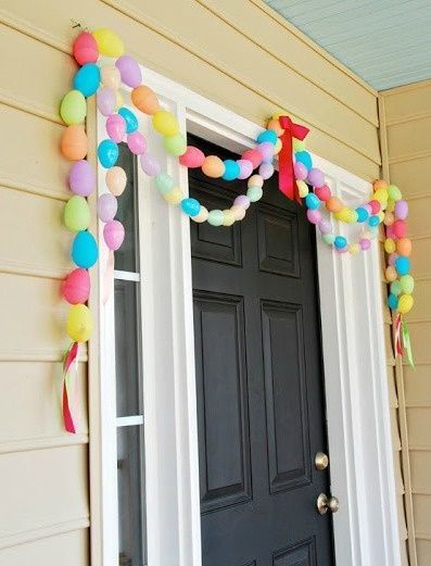 Easter garland out of plastic eggs!