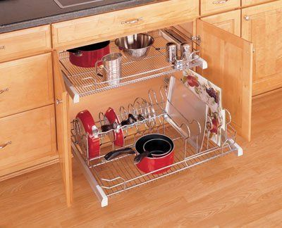 Rev-A-Shelf 5389-33CR Pull-Out Cookware Organizer - Wire-Chrome/Crominox:Amazon:Home & Kitchen