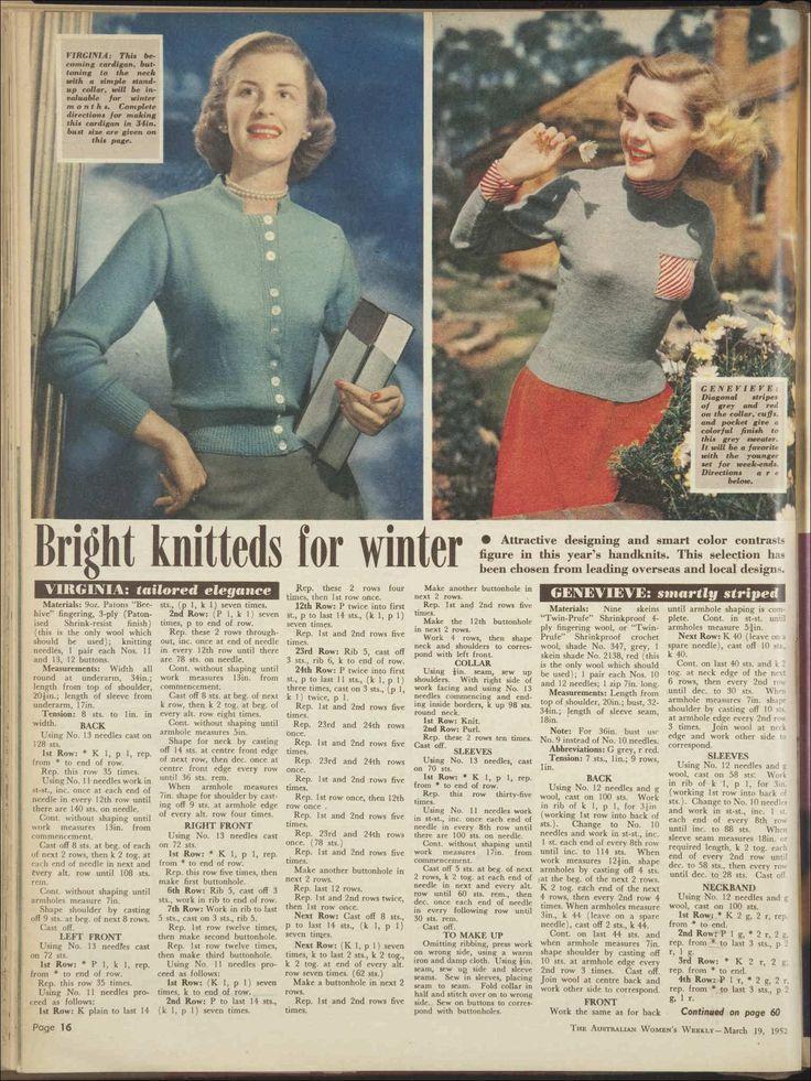 Issue: 19 Mar 1952 - The Australian Women's Wee...