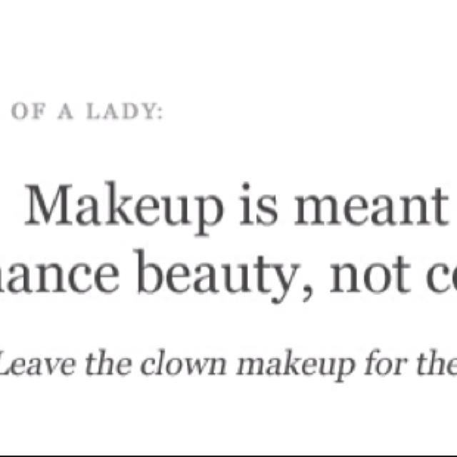 Inspirational Quotes About Makeup. QuotesGram