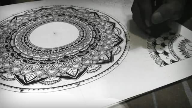 Video kedua dari sebuah  proses yang panjang. _______________________________________________________ #drawing #black #ink #pen #mandala #yinyang #stippling #pointillism #video #floral #universe #love #mantra #universe #meditation #hippies #mandala_art #zentangle #mandalamaze #bohemian #gypsy #mandalas_forum #mandalaplanet #mandalalovers #iblackwork #blxckmandalas #penahitam_arts #penahitam_tng #beautiful_mandalas #mandala_sharing #peace on earth