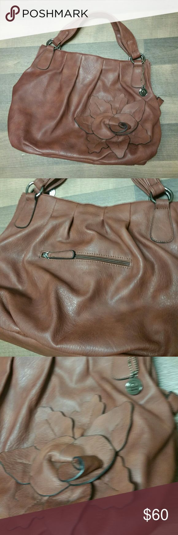 NWOT Big Buddha Leather Petal Bag In excellent NWOT condition...The brown color is more a burnt sienna from our Crayola box. Final sale price firm unless bundled!!!!!!!!!!!!!!!! Big Buddha Bags Shoulder Bags