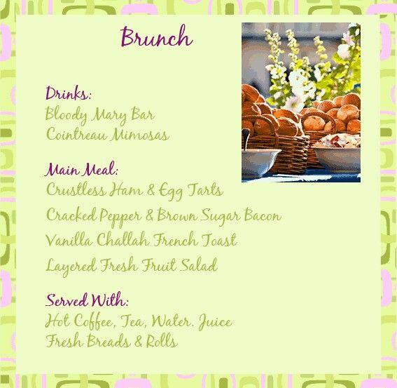 sample brunch menu