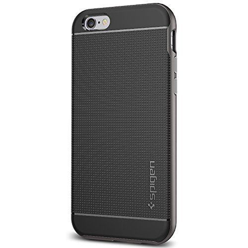 nice Spigen Neo Hybrid Case with Metallized Buttons for Apple iPhone 6/6S - Gunmetal