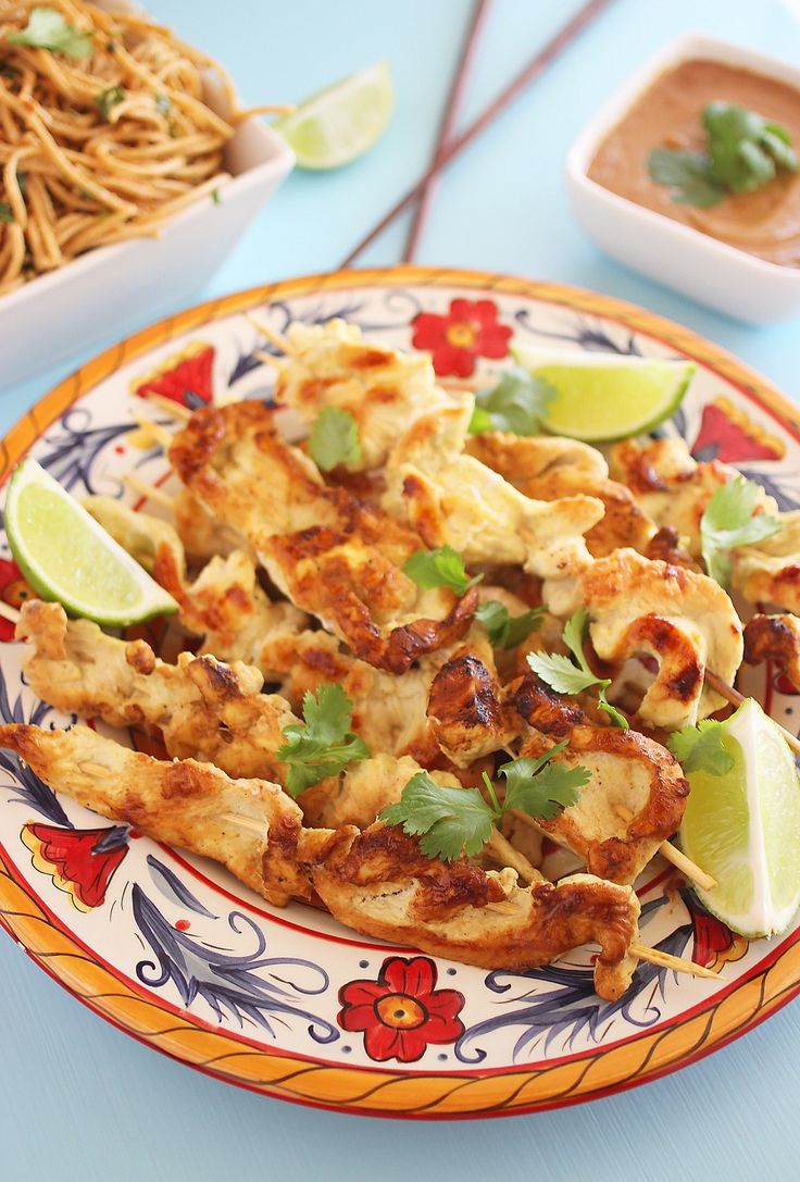 Coconut-Ginger Chicken Satay with Creamy Sriracha Sauce – Try this ...