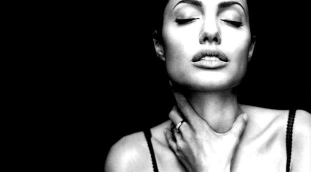 Angelina Jolie Black And White Portrait Photoshoot