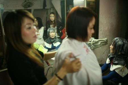 The hairdresser, Hanoi, Vietnam