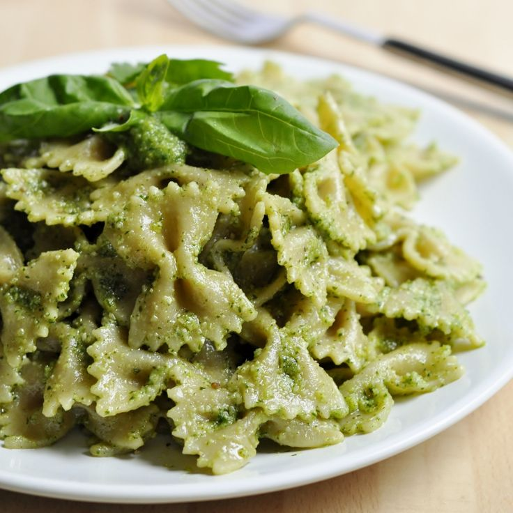 Cilantro Basil Pesto Recipe - healthy, easy and done in minutes! Perfect with pasta or noodles. Naturally vegan and gluten-free pesto recipe w/ Ginger!