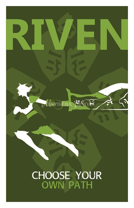 Riven League of Legends Print by pharafax on Etsy, $16.00