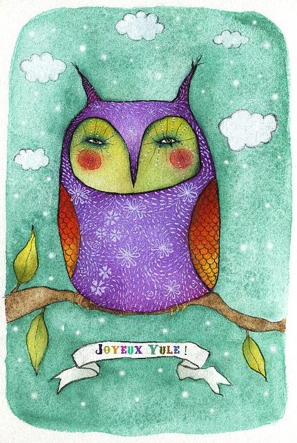 'Happy Yule' by Libellune (Alexandra Rouche)