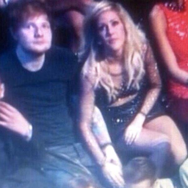 Ellie Goulding and Ed Sheeran hold hands at the VMAs