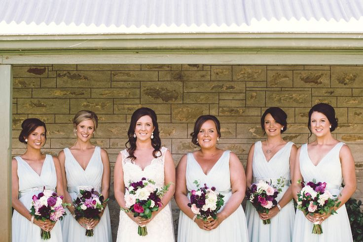 The gorgeous Alyce and her bridal party ready to walk down the aisle! Photo by Meaghan Coles, Now and Then Photography
