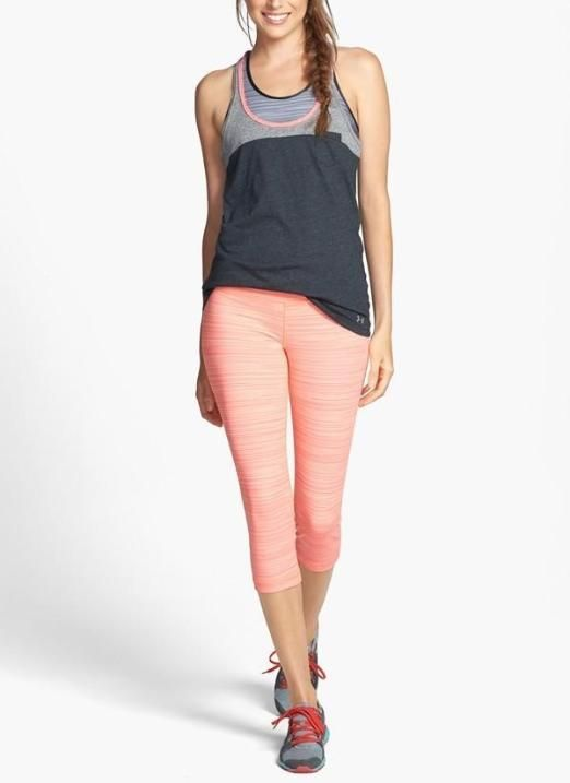 Keeping it cute for the gym! Crushin on this Under Armour tank and StudioLux denim capris.