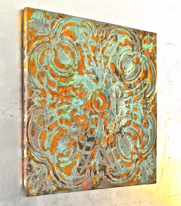 Modern Masters Rusty Patina Metal Wall Art | How to Mix Metal Effects Patinas Effortlessly | Tutorial by Debbie Hayes of My Patch of Blue Sky: