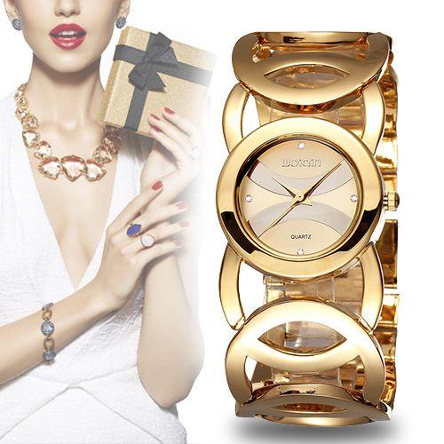 WEIQIN Brand Luxury Crystal Gold Watches Women Fashion Bracelet Quartz Watch Shock Watreproof Relogio Feminino orologio donna