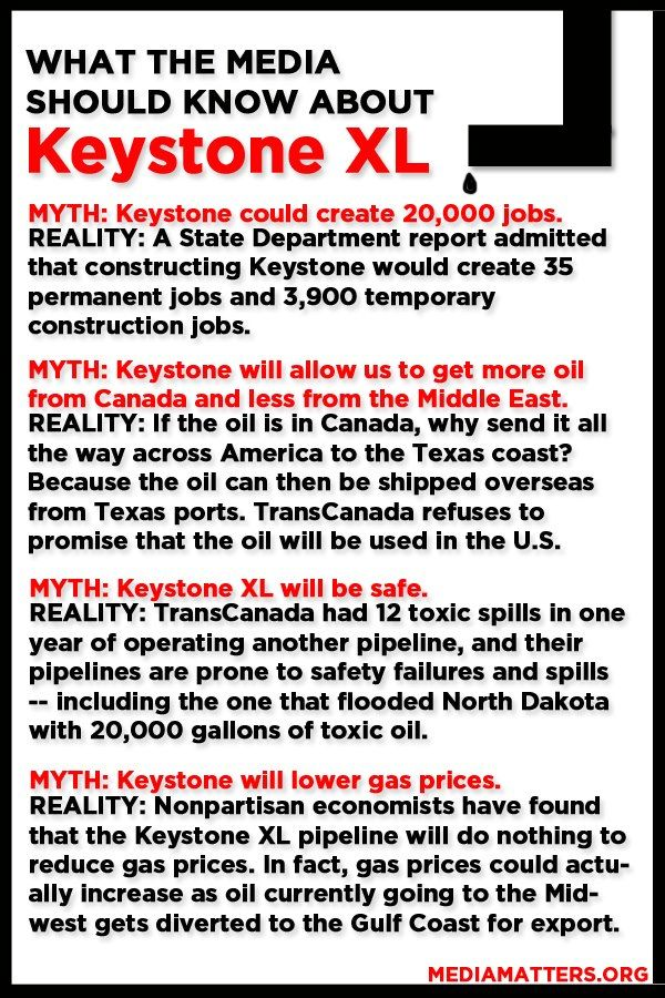 Breaking down the myths on Keystone XL. And there are plenty. -- More debunked falsehoods on the pipeline: http://mediamatters.org/research/2013/02/14/5-myths-about-keystone-xl-debunked/192668