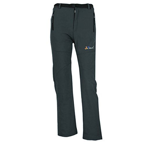 JNTworld women warm wind waterproof hiking pants Trousers breathable Soft Shell XXXL Grey *** Click image to review more details.