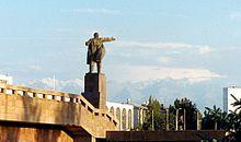 Estatua de Lenin en Biskek en Biskek capital de Kirguistàn.