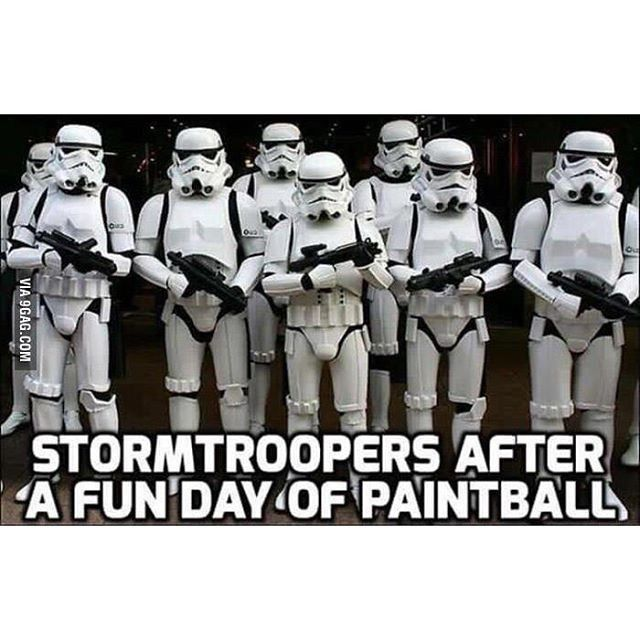 Would be nice to go against Storm Troopers... you'd never have to worry about getting hit..