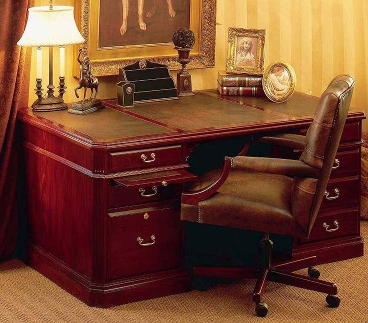 Lexington Desk small with leather inlay | Wetherlys