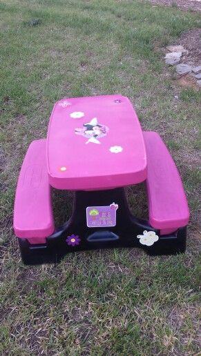 Pinterestteki 25den fazla en iyi Little tikes picnic table fikri