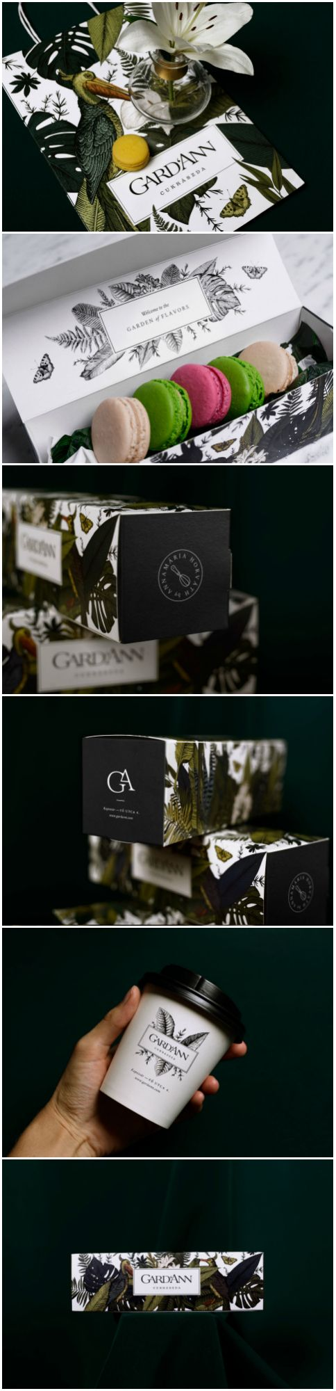 Hungarian Patisserie, Chocolate Factory and Cafe Branding, Packaging and Interior Design  Design Agency: kissmiklos Brand / Project Name: Gard'Ann patisserie Location: Hungary Category: #Bakery  World Brand & Packaging Design Society