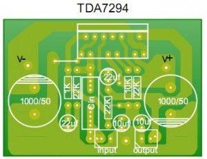 PCB design Stereo 80Watt Audio Amplifier TDA7294 | Audio ...