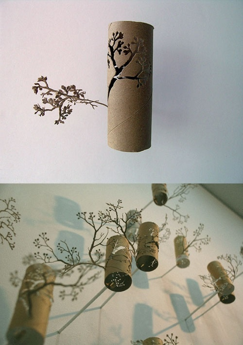 45 best repurpose cardboard tubes images on pinterest for How to make a tree out of toilet paper rolls