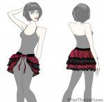 Ruffle Bustle Skirt Printable PDF Pattern
