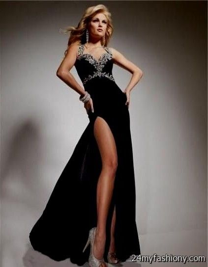 Prom dress black and silver