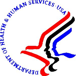 Department of Health and Human Services USA logo seal red ...