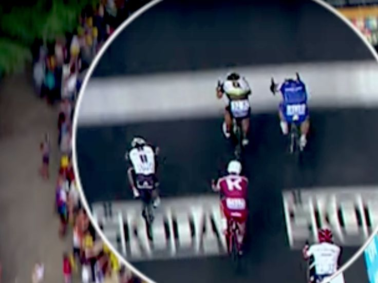 This is probably the closest photo finish we'll ever see in the Tour de France - NUITS-SAINT-GEORGES — Six millimeters.  After after more than five hours of racing in the high heat and 213.5 kilometers (132.6 miles), that's how much German sprint star Marcel Kittel won stage seven of the Tour de France by here on Friday, just edging the Norwegian Edvald Boasson Hagen in a photo finish.  It was Kittel's third stage win of this race and his 12th in the Tour ever.  You have to some feel…