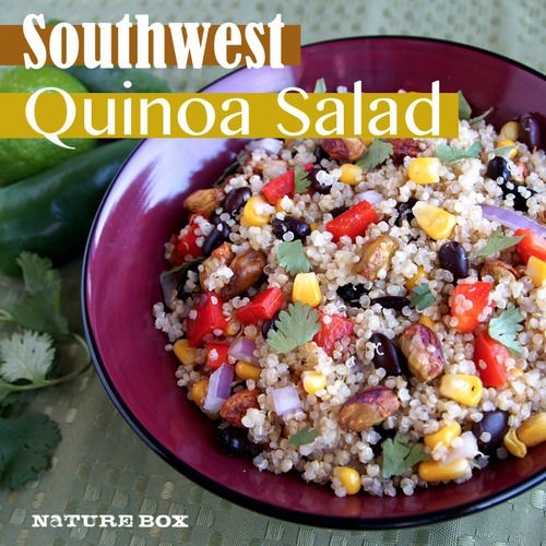 What to eat the next day: Southwest Quinoa Salad with Chili Lime Vinaigrette #HealthBowl