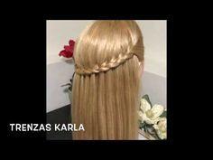 Trenza Cascada Fácil, Sencilla - Peinado con trenza - YouTube