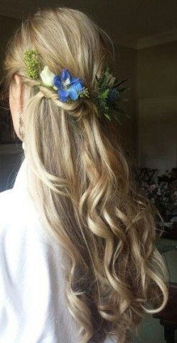 52 Concepts marriage ceremony hairstyles half up half down with flowers pure for 2019