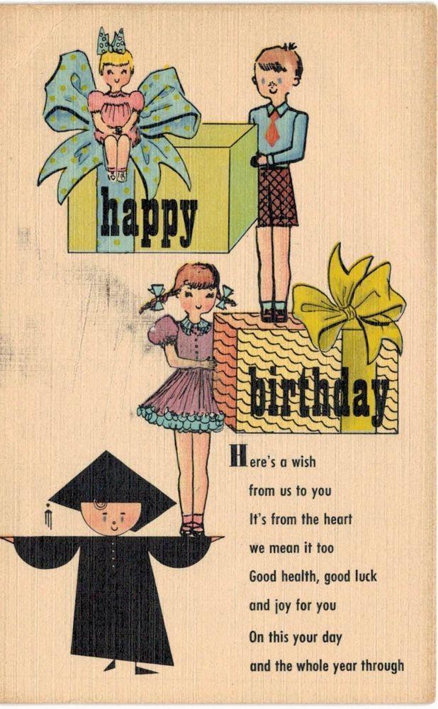 Pasadena CA Wetherby Kayser Shoe Advertising 476 E Colorado Happy Birthday | Collectibles, Postcards, Advertising | eBay!