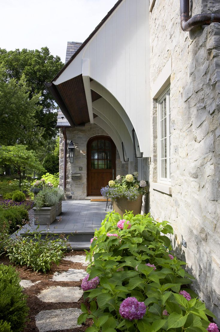 Lake thomas point transitional exterior - Detail Front Entry And Overhang Traditional Exterior Chicago Mark Hickman Homes