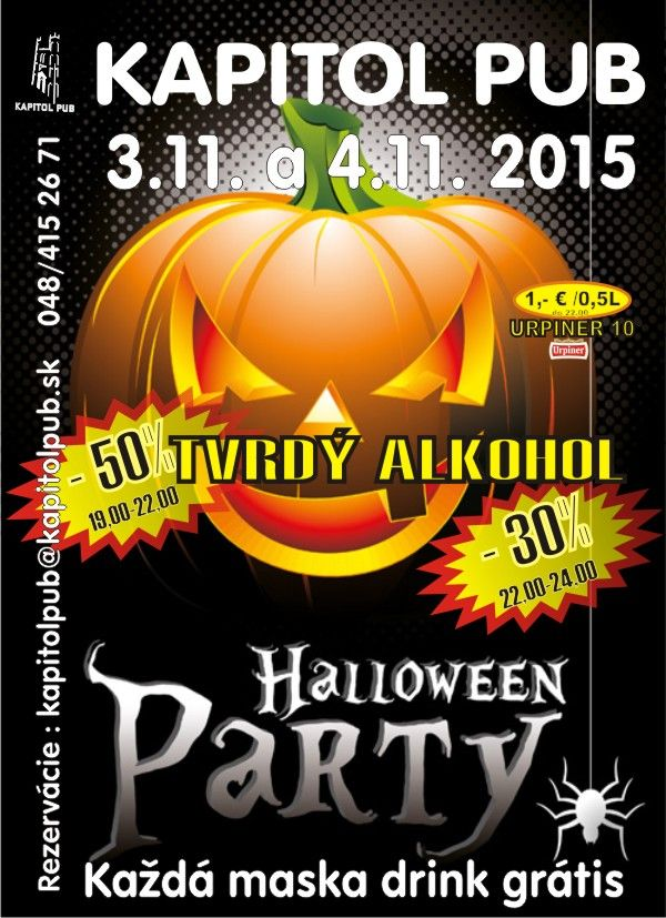 Helloween studenska party utorok/streda