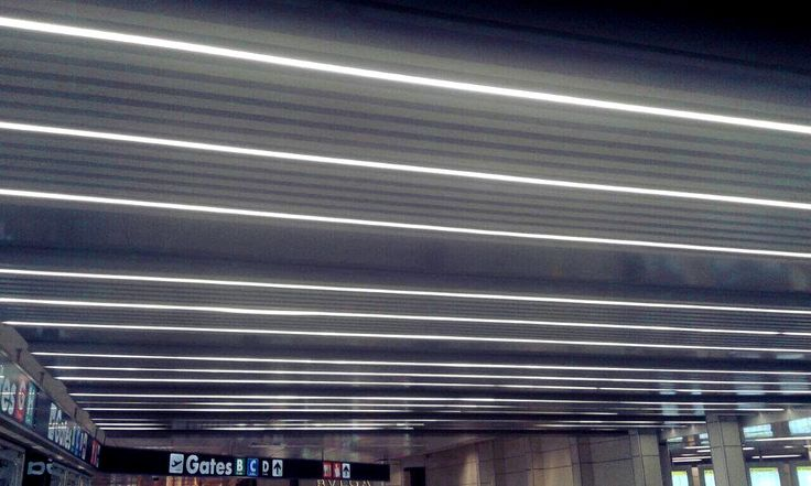 STREET LED profile installed in an airport.