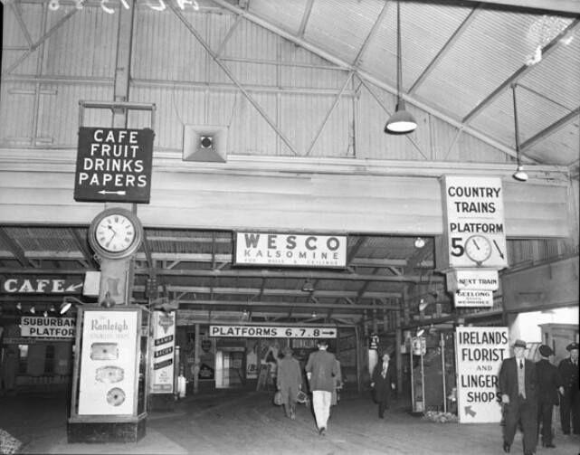 Spencer Street Station, 1940's. Melbourne Australia