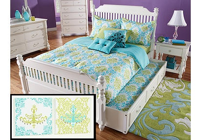 blue green chandelier twin bed set and accessories memphis 39 bedroom