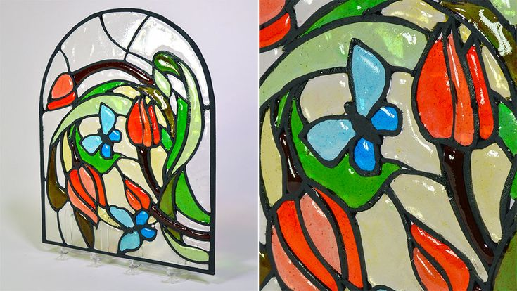 Isomalt Stained Glass Technique tutorial just got published! -