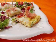 frittatine con speck e mozzarella ricetta secondo veloce e gustoso