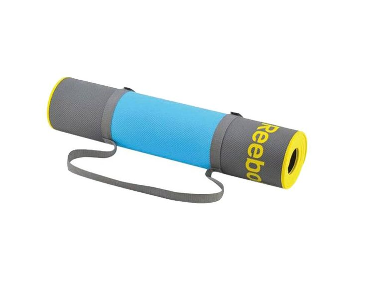 Premium Yoga Mat by Reebok.  slightly thicker than standard yoga mat, gives you a perfect combination of contact and comfort, made from an eco-friendly and washable material and includes a carry strap, so you can easily bring it any where. http://zocko.it/LE4kx