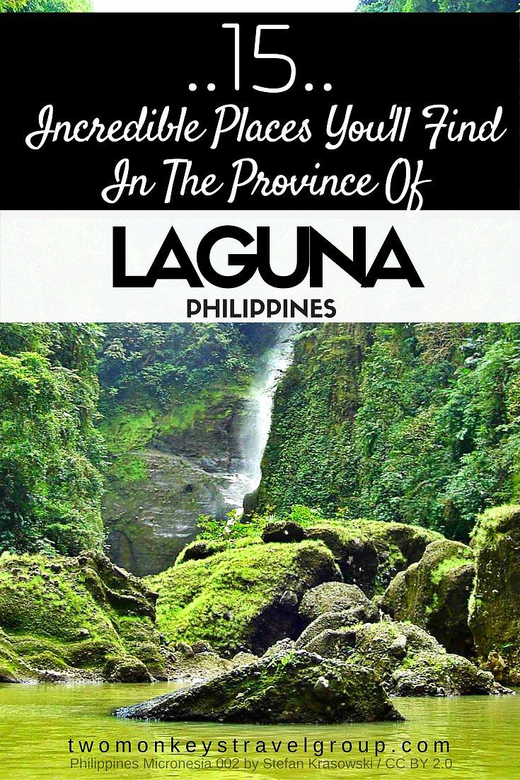 15 Incredible Places You'll Find in the Province of Laguna, Philippines  Laguna is a beautiful province located in the CALABARZON region in Luzon, Philippines. If you are coming from Manila, it will take you an hour and a half to reach the heart of the province (without the traffic). Because of the proximity, Laguna is known to be one of the best weekend getaway spots of people who would like to take a breather from the hustle and bustle of the metro.