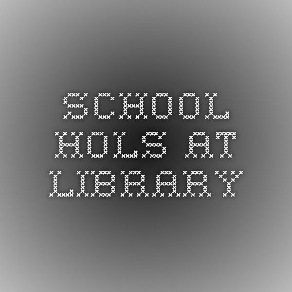 school hols at library
