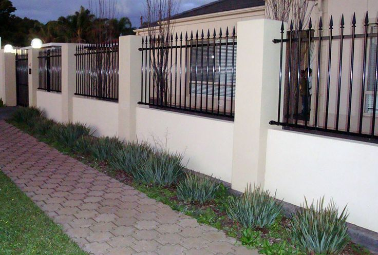 Screen walls brick fence designs cdr fence wall for Brick and wrought iron fence designs